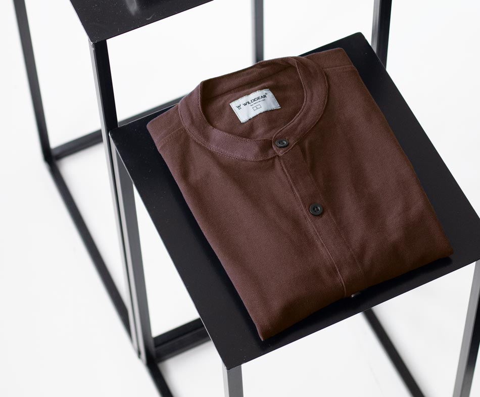 Full sleeve coffee brown shirt by Wildgear