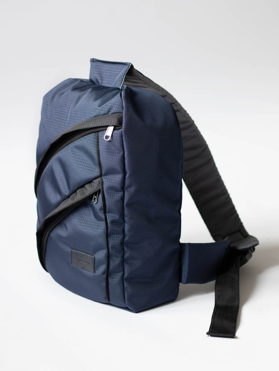 Space blue crossbody bag for men and women