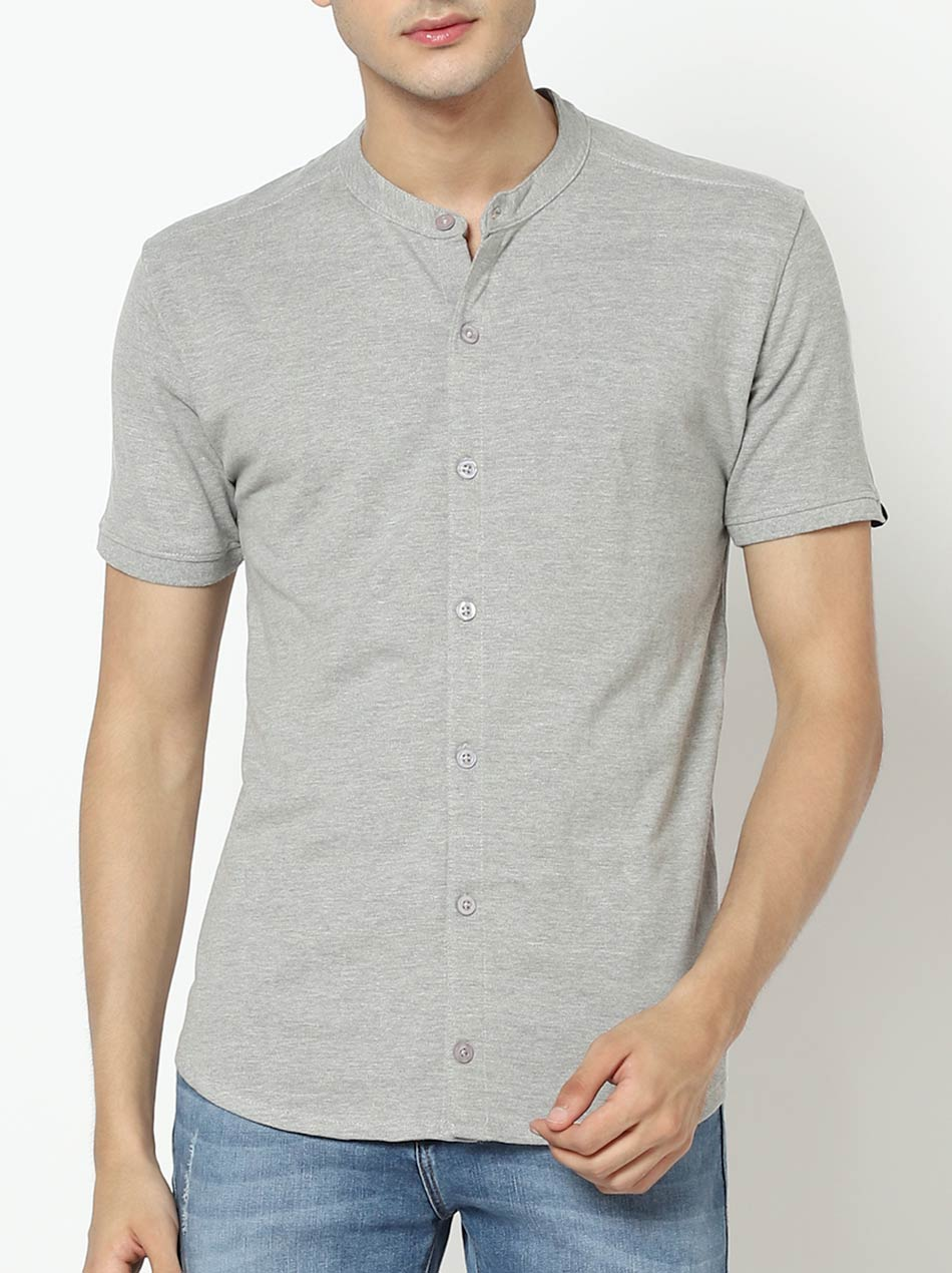 Cotton grey shirt for men