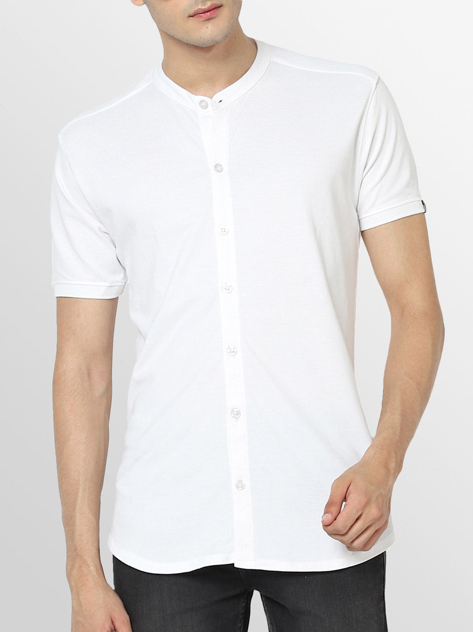 Cotton white shirt for men