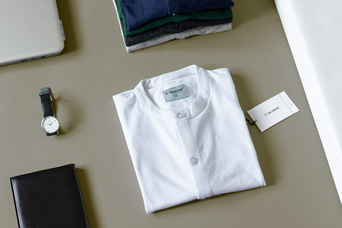 Solid white - Marcella Shirt by Wildgear