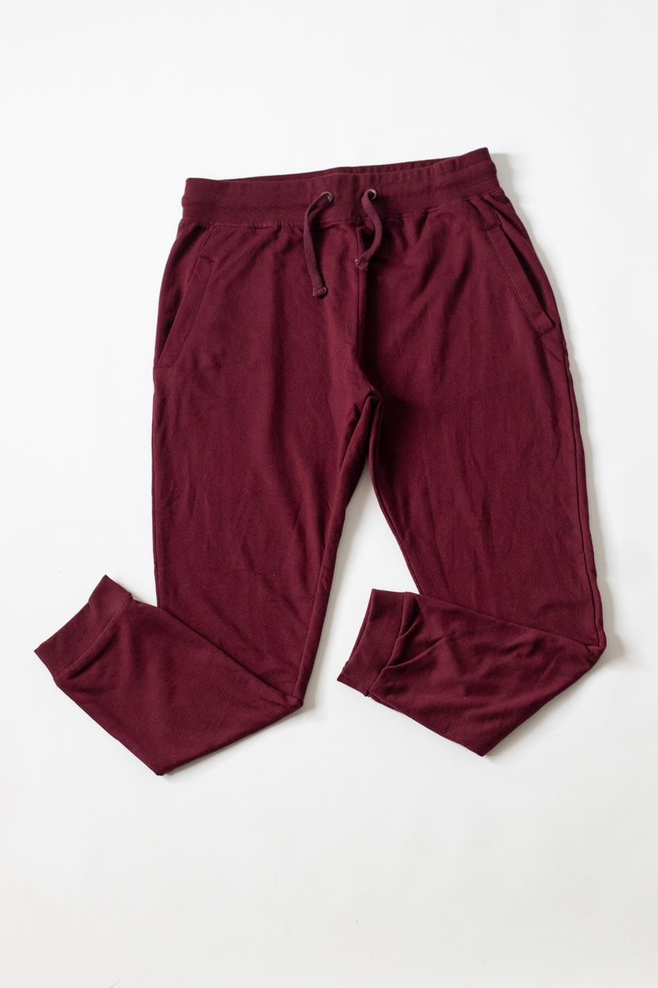cotton maroon trackpant jogger for men