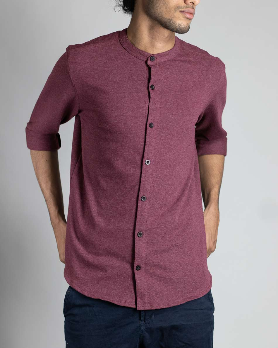 Full sleeve mauve purple shirt by Wildgear