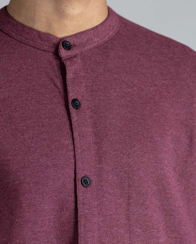 Cotton mauve purple casual shirt for men