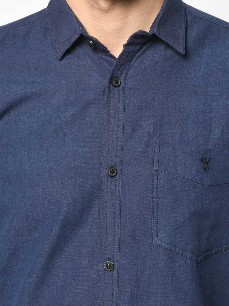 Powerloom shirt for men - navy blue