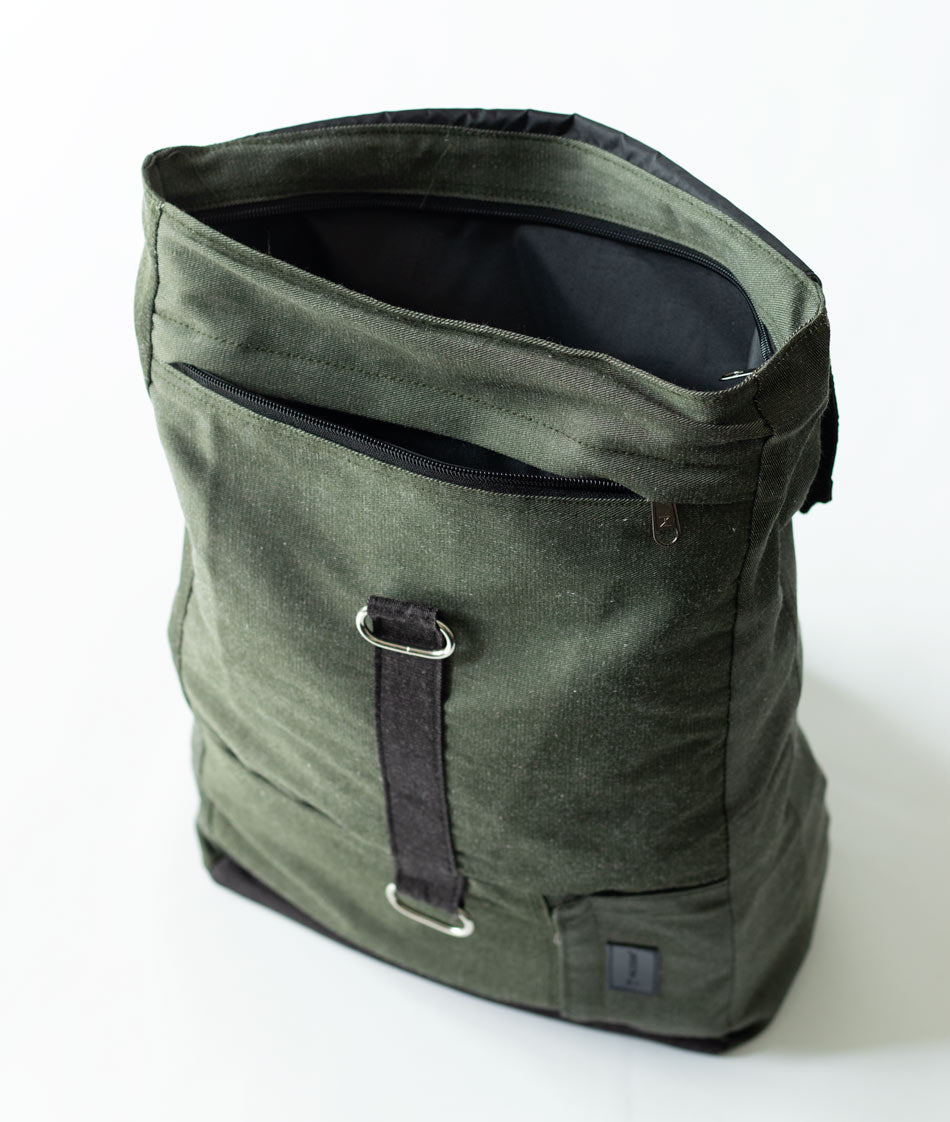 Laurel Green backpack for men and women