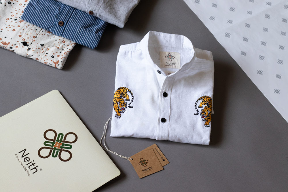 Zen Tigers White Shirt by Neith