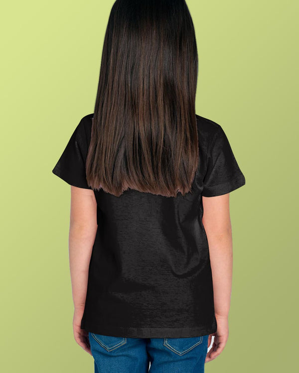 Girls O-Neck T-shirt Black