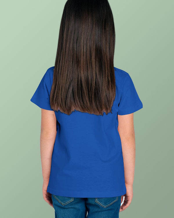 Girls O-Neck T-shirt Royal Blue