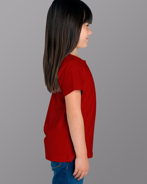 Girls O-Neck T-shirt Red