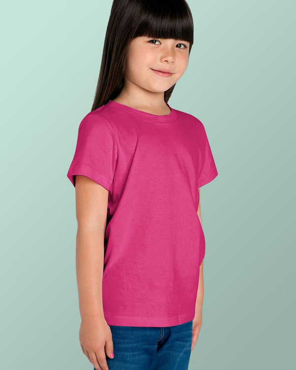 Girls O-Neck T-shirt Pink