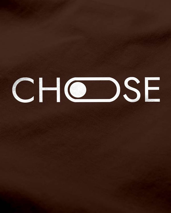 Choose - Men's T-shirt Coffee brown, new typography print tees