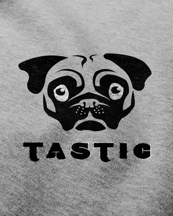 Pugtastic - Men's T-shirt, Pug print cute t shirt, Art typography