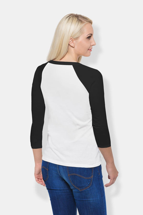 Women's Raglan T-Shirt - White & Black