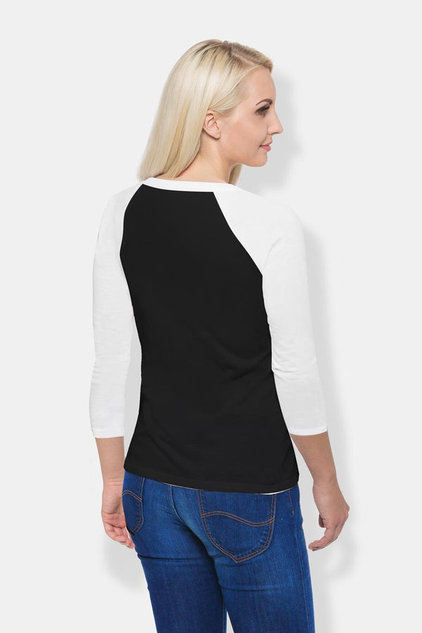 Women's Raglan T-Shirt - Black & White