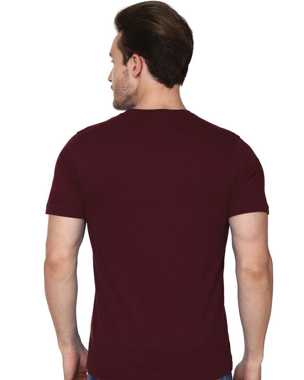 Back - Premium Round Neck Cotton, Half Sleeves