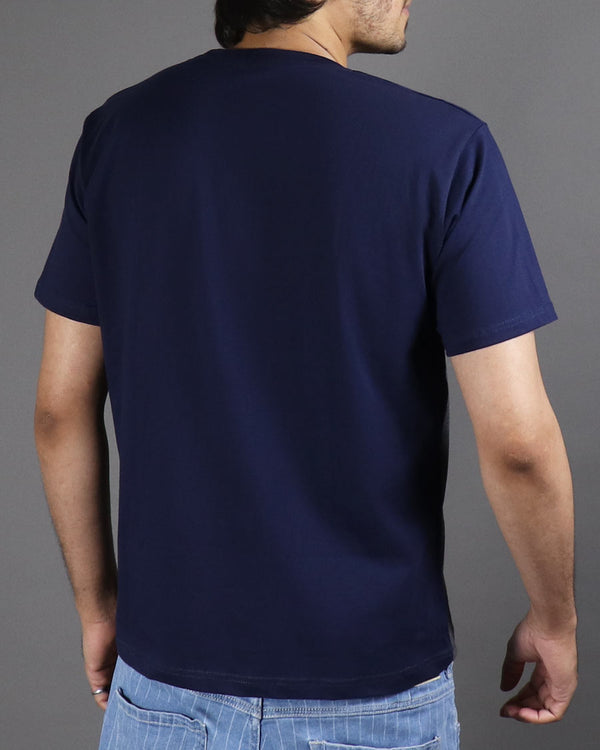 Trio T-shirt - Navy White Charcoal