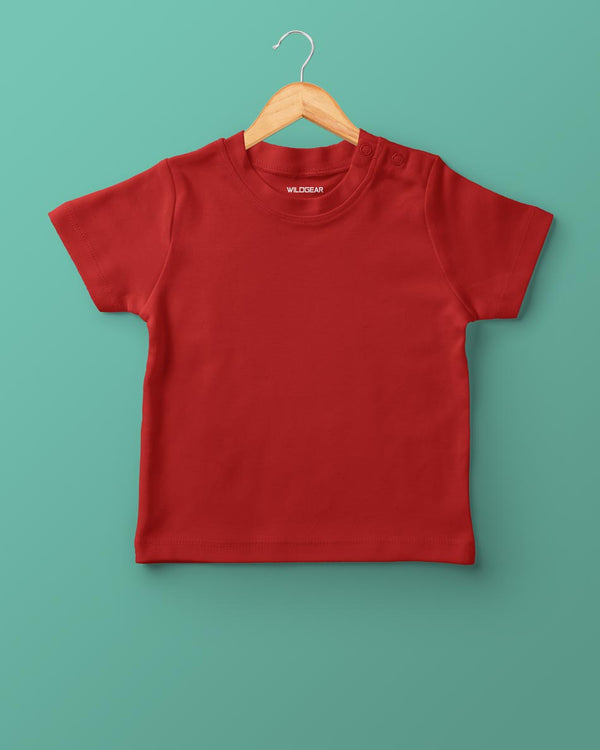 Boys O-Neck T-shirt Red
