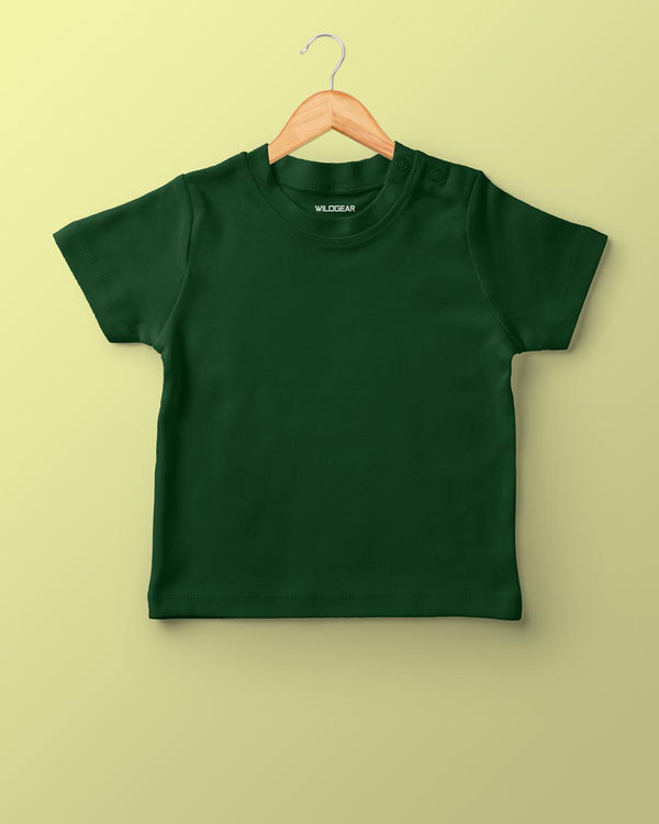 Boys O-Neck T-shirt Olive Green