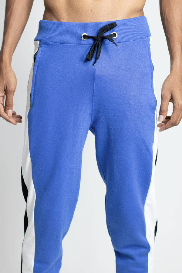 Premium cotton infinite blue joggers | alloons.com