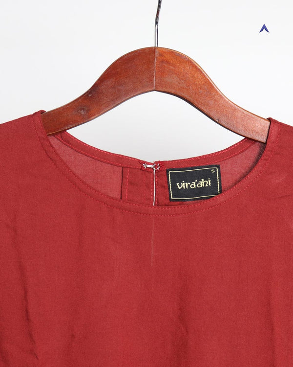 Vira'ahi - Women's Maroon Tiered Top