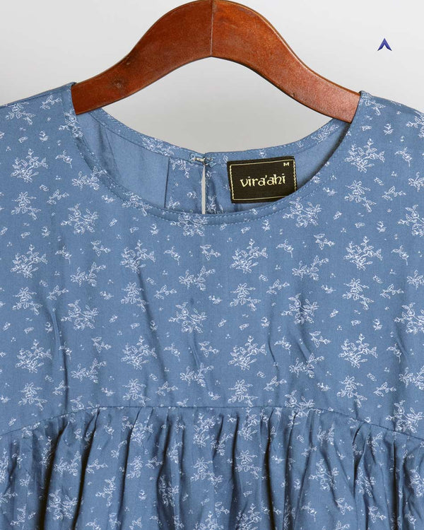 Vira'ahi - Women's Azure Gathered Top