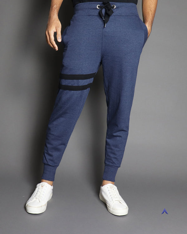 Navy Blue Striped - Joggers