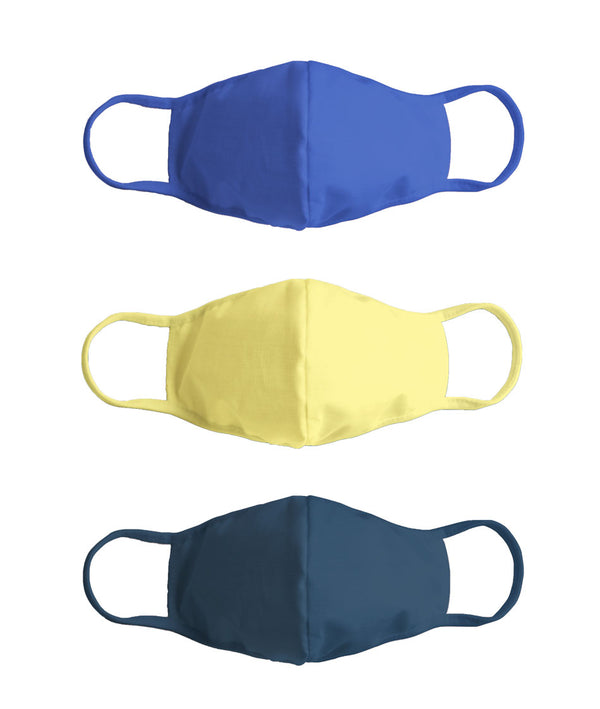 Solid Colored - Masks -Royal Blue, Yellow, Prussian Blue