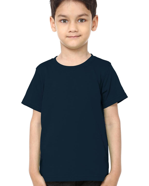 Boys O-Neck T-shirt Navy Blue