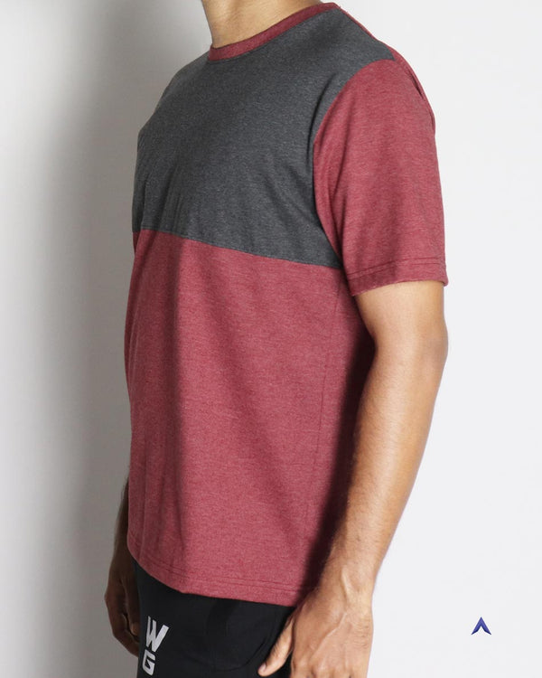 WildGear - Maroon-Gray Duo O-Neck T-shirt