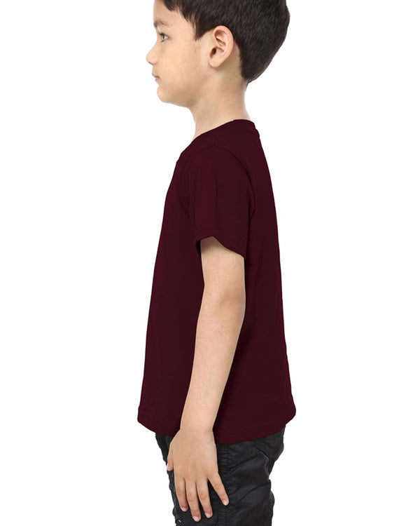 Boys O-Neck T-shirt Maroon
