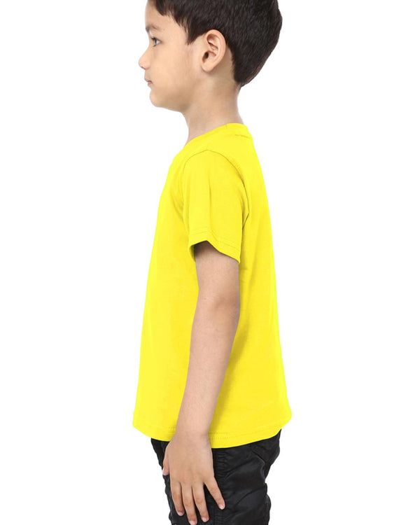 Boys O-Neck T-shirt Yellow