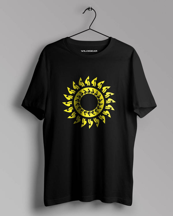 black Eternal rays Tshirt For Men