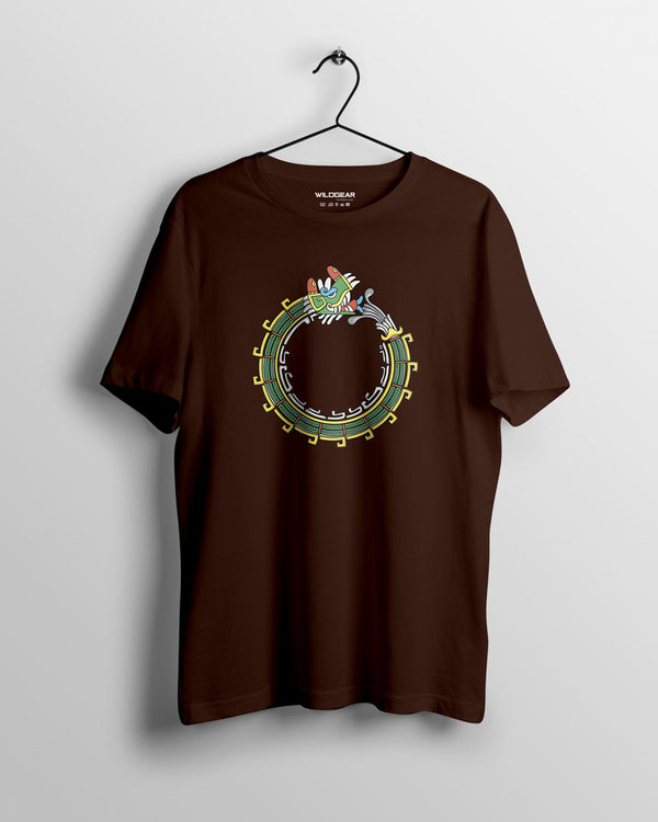Dragon Head - Men's T-shirt Coffee brown