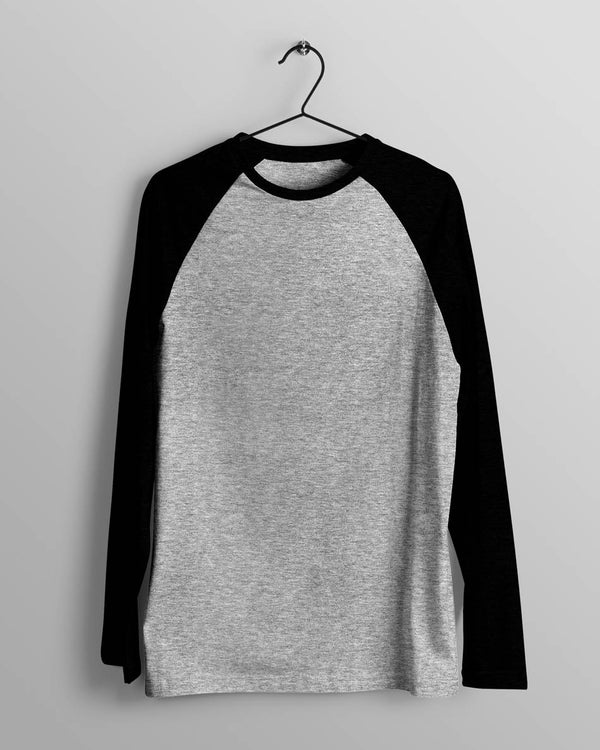 Mens Raglan Grey and Black