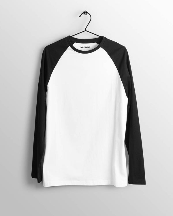 Mens Raglan White and Black