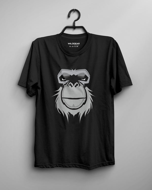 Fierce Ape - Men's T-shirt Black Tee, Graphic Collections, Animal Art