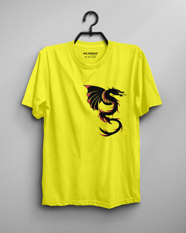 Dragon - Men's T-shirt Yellow, Chinese design, monster