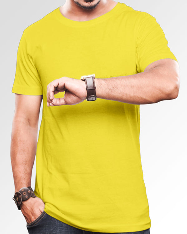 Men's Solid Yellow