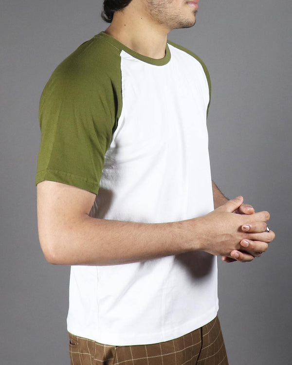 WildGear - O-Neck Raglan - Olive Green T-shirt