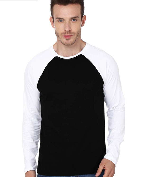 Mens Raglan Black and White