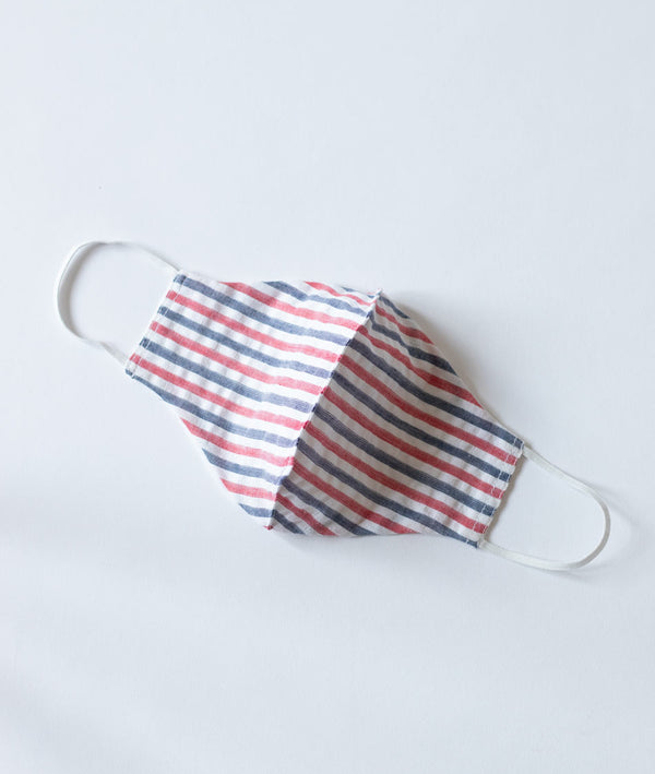 White Striped Premium Cotton Face Masks