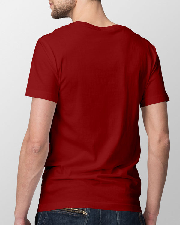 Red Cotton T-shirt for him, half sleeves