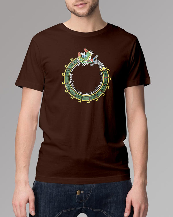 Coffee brown Men's T-shirt - Dragon head print art