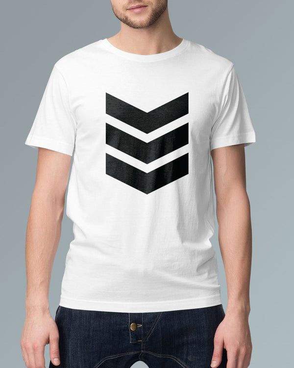Galactic White - Graphic Printed T-shirt