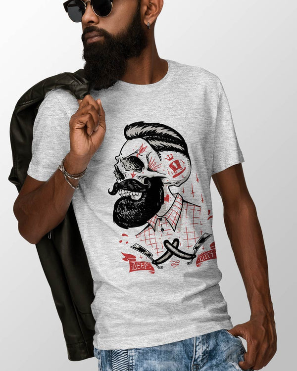 Grey Beard Tees For Men, O-Neck & Half Sleeves