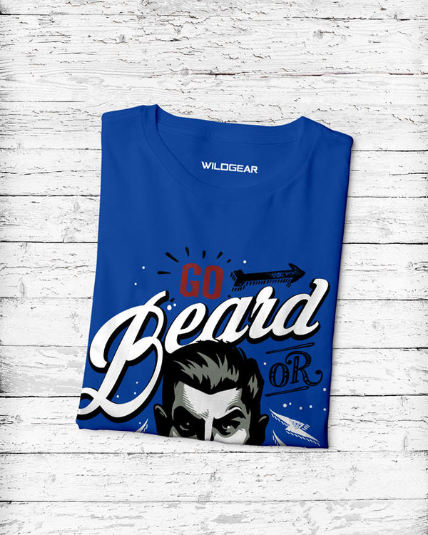 Round Neck Men's Royal Blue T-Shirt