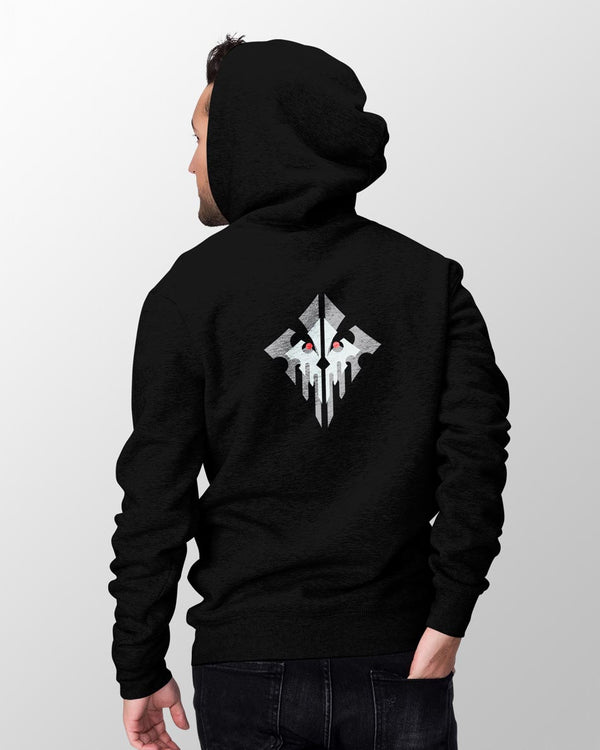 Demolisher - Back Printed Hoodie - Black