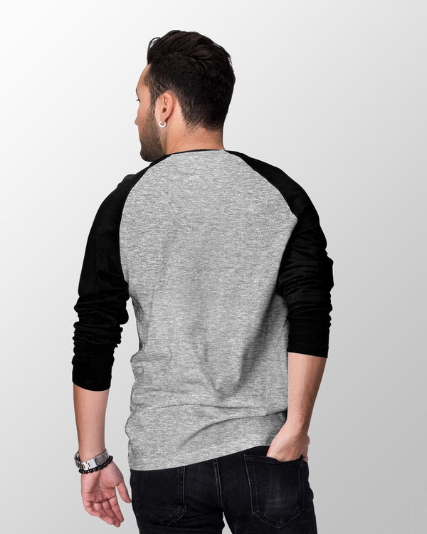 Galactic Charcoal & Black - Men's Raglan