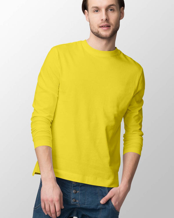 Mens Long Sleeve - Yellow